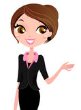 Business woman showing stock illustration