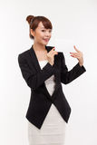 Business woman showing blank card. Stock Photos
