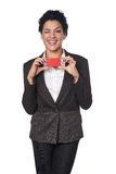 Business woman showing blank credit card Stock Photography