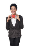 Business woman showing blank credit card Stock Photo