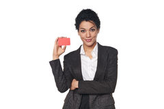 Business woman showing blank credit card Stock Images