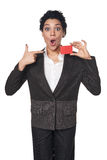 Business woman showing blank credit card Stock Image