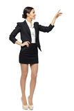 Business woman showing copy space Royalty Free Stock Photography