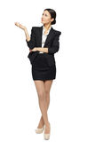 Business woman showing copy space Royalty Free Stock Photo