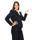 Business woman showing copy space Stock Photo