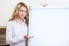Business woman showing empty Royalty Free Stock Photos