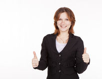 Business woman showing a gesture all is good Stock Photo