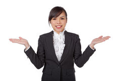Business woman showing hands Royalty Free Stock Images