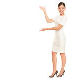 Business woman showing / presenting Royalty Free Stock Images