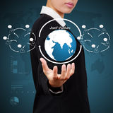 Business woman showing solution concept Stock Photography