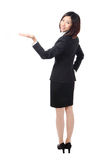 Business woman showing something Stock Photo