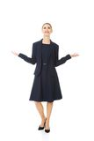 Business woman showing something or copyspase Stock Photography