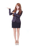 Business woman showing something Stock Photography