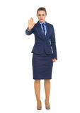 Business woman showing stop gesture Stock Image