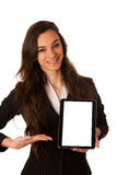 Business woman showing tablet  Royalty Free Stock Photography