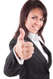 Business woman showing thumb up Royalty Free Stock Photos