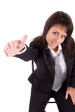 Business woman showing thumb up Stock Photography