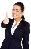 Business woman showing thumb up gesture Royalty Free Stock Images