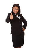 Business Woman Showing Thumb Up Sign Royalty Free Stock Image