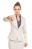Business woman showing thumbs down Stock Images