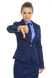 Business woman showing thumbs down Stock Photos