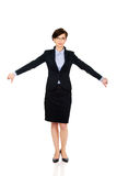 Business woman showing thumbs down. Stock Photos