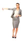 Business woman showing thumbs down. Royalty Free Stock Photo