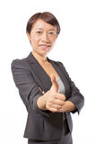 Business woman showing thumbs up 2 Royalty Free Stock Images