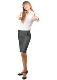 Business woman showing thumbs up Royalty Free Stock Photo