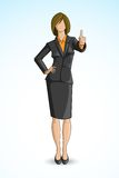Business Woman showing Thumbs Up. Vector illustration of business woman gesturing thumbs up Stock Images