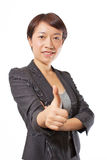 Business woman showing thumbs up 3 Royalty Free Stock Image