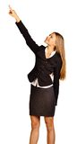 Business woman showing a thumbs up Royalty Free Stock Photography