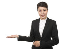 Business woman showing Stock Image