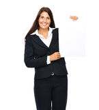 Business woman sign Stock Photography