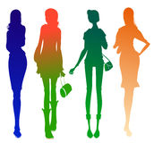 Business woman  silhouette Stock Photography