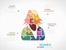 Business woman silhouette Royalty Free Stock Images