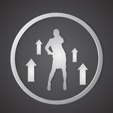 Business Woman Silhouette Finance Arrow Graph Up Success. Vector Illustration Royalty Free Stock Image