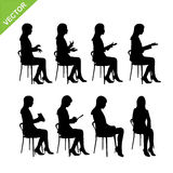 Business woman silhouette vector Stock Images