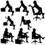 Business Woman Silhouettes Stock Images
