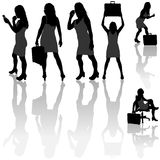 Business Woman Silhouettes Stock Image