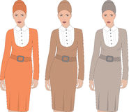 Business woman silhouettes. Stock Photo