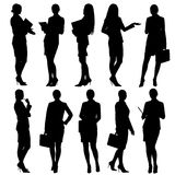 Business woman silhouettes Royalty Free Stock Images