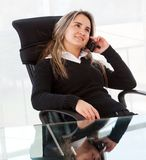 Business woman sitting Stock Images