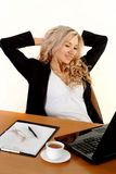 Business woman sitting Royalty Free Stock Photos