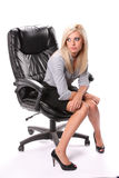 Business Woman Sitting Royalty Free Stock Photo