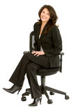 Business woman sitting Stock Photography