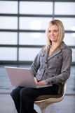 Business woman sitting Stock Photos