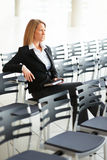 Business woman sitting alone Stock Photos