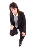 Business woman sitting on a chair Royalty Free Stock Photography