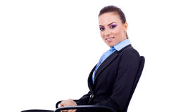 Business woman sitting in a chair Royalty Free Stock Photography